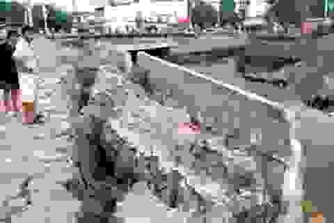 Thẩm định mẫu bê tông công trình tiền tỷ vỡ toác sau trận mưa