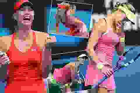 """""""Búp bê"""" Sharapova sớm có vé vào bán kết"""