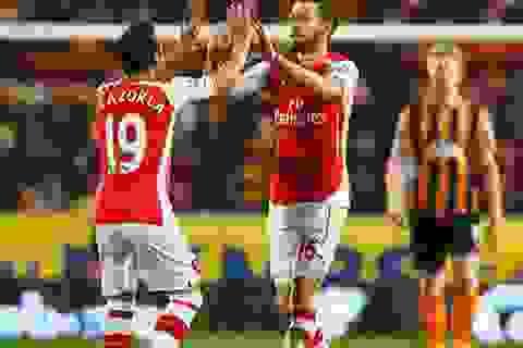 Hạ gục Hull, Arsenal tiếp tục mơ ngôi nhì bảng