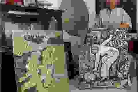 """Cần Thơ: Gặp """"lão gò nhôm"""" và những tác phẩm nghệ thuật"""