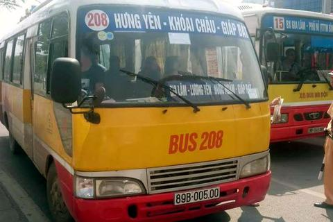 """Hà Nội truy quét xe buýt """"nhái"""" trên toàn thành phố"""