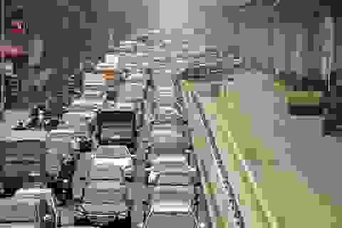 Sau Tết Dương lịch, đường phố Hà Nội lại ùn tắc nghiêm trọng