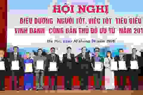 """Hà Nội vinh danh 9 """"Công dân Thủ đô ưu tú"""" năm 2016"""