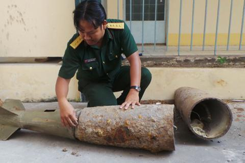 Xử lý thành công 5 quả bom còn sót lại từ thời chiến