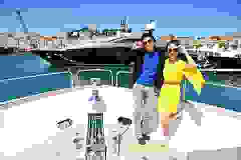 Sao Việt tạo dáng trên du thuyền tại Cannes