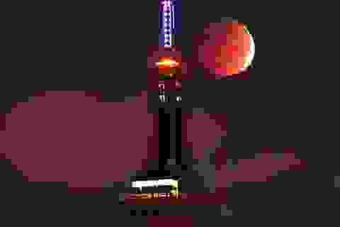 """Ngắm mặt trăng """"đổ máu"""" ở nhiều nơi trên thế giới"""