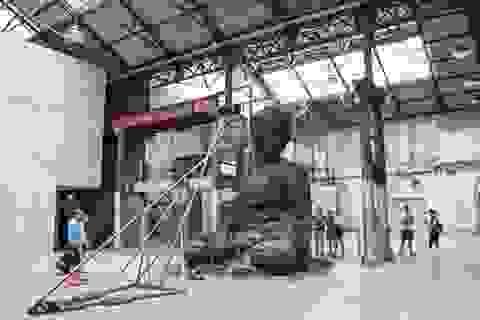 Ngắm pho tượng Phật khổng lồ bằng 20 tấn tro hương ở Úc