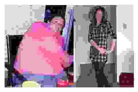 Cô gái giảm 95kg vì bị chê quá béo