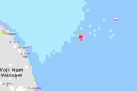 """Google Maps gỡ bỏ tên gọi """"Tam Sa"""" trên biển Đông"""