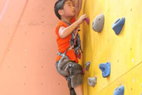 Trẻ em đi leo núi giữa trung tâm thủ đô