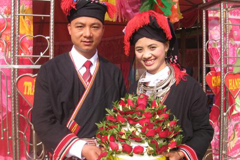 Độc đáo trong lễ rước dâu của người Dao Tiền ở Mộc Châu