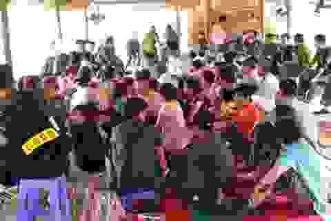"""Khởi tố 42 đối tượng trong sới bạc """"khủng"""" ở Lương Sơn, Hòa Bình"""