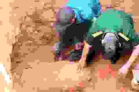 Quả bom nặng 500kg nằm dưới... nền nhà