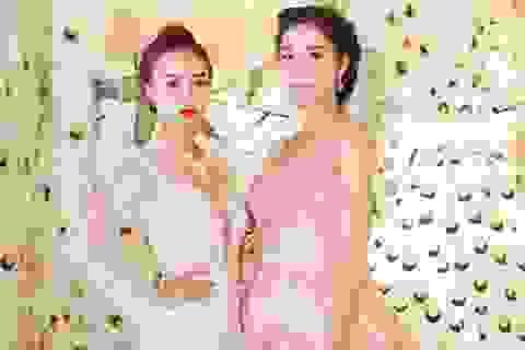 Ninh Dương Lan Ngọc đọ dáng cùng hoa hậu Triệu Thị Hà