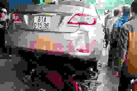 Tài xế ngủ quên sau khi gây tai nạn