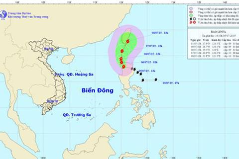 Bão LINFA mạnh cấp 9 tiến sát rìa Biển Đông