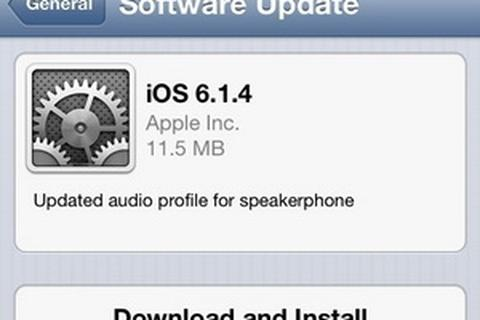 Apple phát hành iOS 6.1.4 dành riêng cho iPhone 5