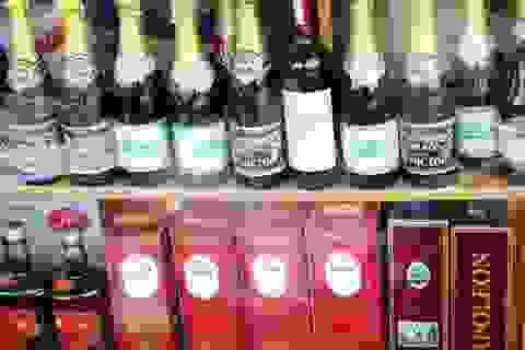 Cồn pha đường cháy thành rượu ngoại tiền triệu