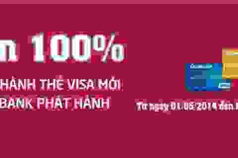 Agribank miễn phí phát hành thẻ quốc tế Visa
