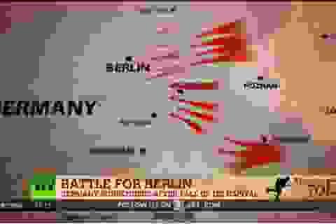 """[Video] Hào hùng """"Trận chiến Berlin"""" buộc Phátxít Đức phải đầu hàng"""