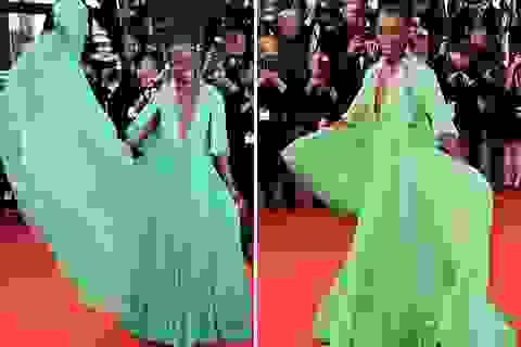 """Người đẹp nhất thế giới mặc """"sến"""" tại LHP Cannes"""