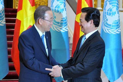 Ông Ban Ki-moon quan ngại về việc bồi đắp đảo quy mô lớn trên Biển Đông