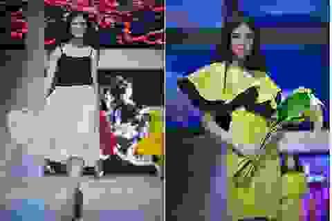 Hoa hậu Ngọc Hân rạng ngời trong mẫu thiết kế mới của thời trang xuân hè 2014