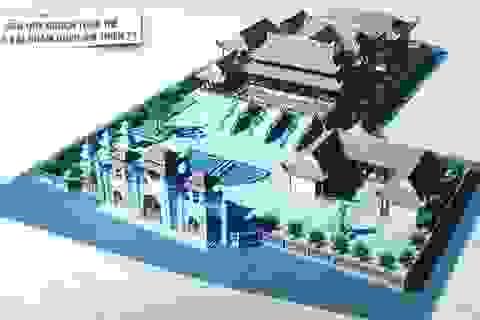 Đặt đá xây dựng chùa Bái Chăm - Quan Âm Thiền Tự
