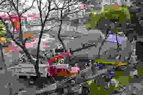 Những hiểm họa ở công trình tháp đôi ngay trung tâm Sài Gòn