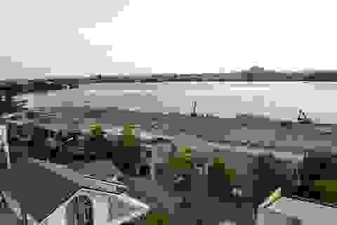 Cận cảnh công trường lấp sông Đồng Nai