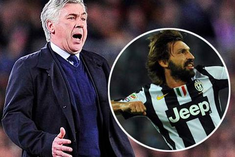 Ancelotti sắp đến Real Madrid cùng Andrea Pirlo