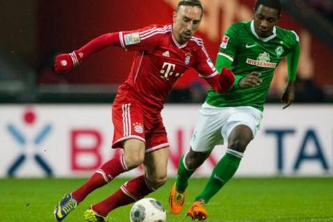 """Ribery và đồng đội """"cày nát"""" mành lưới Weder Bremen"""