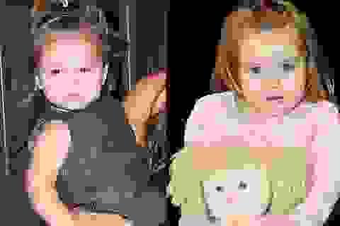 Xuất hiện bé gái giống hệt con gái Beckham
