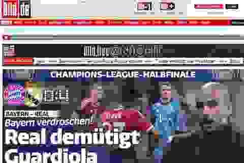 Báo giới quốc tế chỉ trích thất bại của Bayern và Guardiola