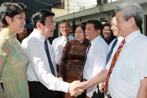 Chủ tịch nước thăm, làm việc với Hội Người Cao tuổi