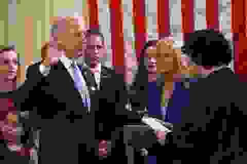 Phó Tổng thống Mỹ Biden tuyên thệ nhậm chức nhiệm kỳ 2 tại gia