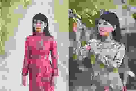 Nghệ sĩ Mỹ Uyên duyên dáng áo dài hoa đón Tết sớm