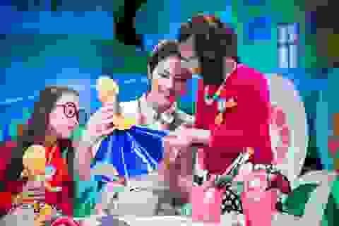 Hoa hậu Ngọc Hân làm cô giáo dạy trẻ thiết kế thời trang