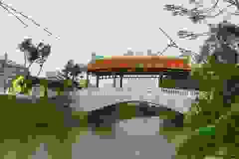 Dân làng góp tiền xây cầu ngói tiền tỷ