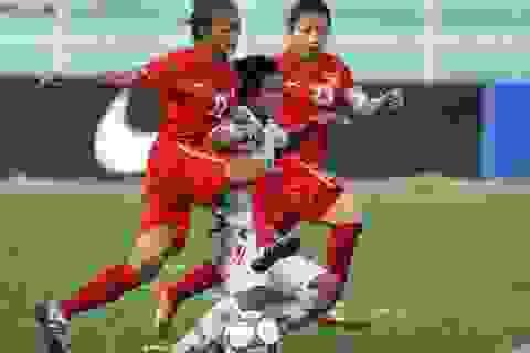 Thắng kịch tính Myanmar, nữ Việt Nam đứng đầu bảng A