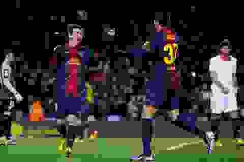 Barcelona đánh bại Sevilla trong ngày Messi đổ máu