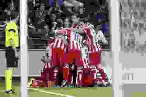 Atletico thắng trận thứ 9 liên tiếp trên các mặt trận