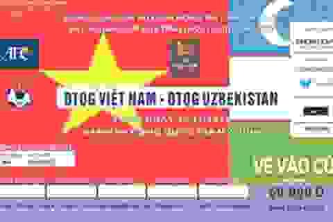 Vé trận Việt Nam - Uzbekistan chính thức được bán ngày 12/11