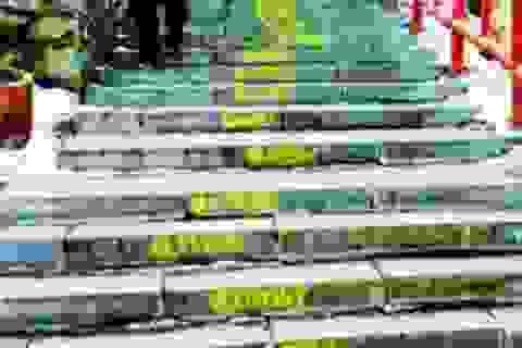 Xin lỗi vợ bằng cách viết chữ lên 300 bậc thang trong công viên
