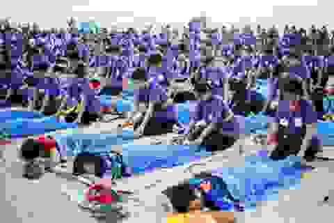 Ngày hội mát-xa lớn nhất thế giới ở Indonesia