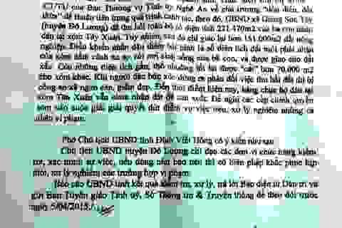 """Vụ hàng chục hộ dân """"mỏi mòn"""" ôm đơn đi """"đòi"""" đất: UBND tỉnh Nghệ An chỉ đạo làm rõ sự việc"""