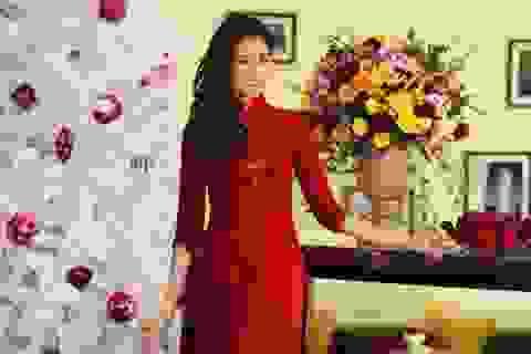 """""""Miss Áo dài nữ sinh 2013"""" rạng ngời sắc đỏ đón Noel"""