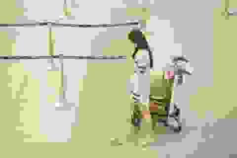 Mai Phương Thúy khoe chân dài, mặt mộc ở sân bay