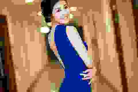 Hoa hậu Ngọc Hân thướt tha trên thảm đỏ