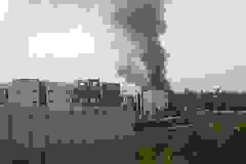 Cháy tại nhà máy E112 Tổng cục Hậu cần - Kỹ thuật Bộ Công an